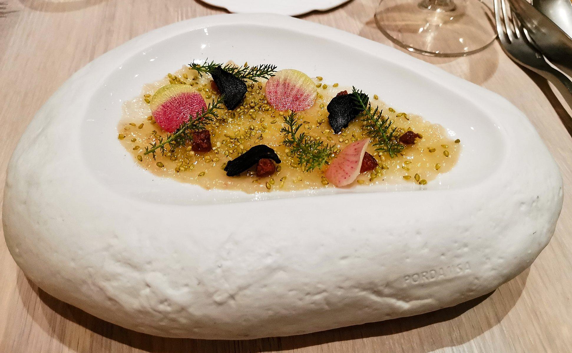 carpaccio de langoustines restaurant L'Odas