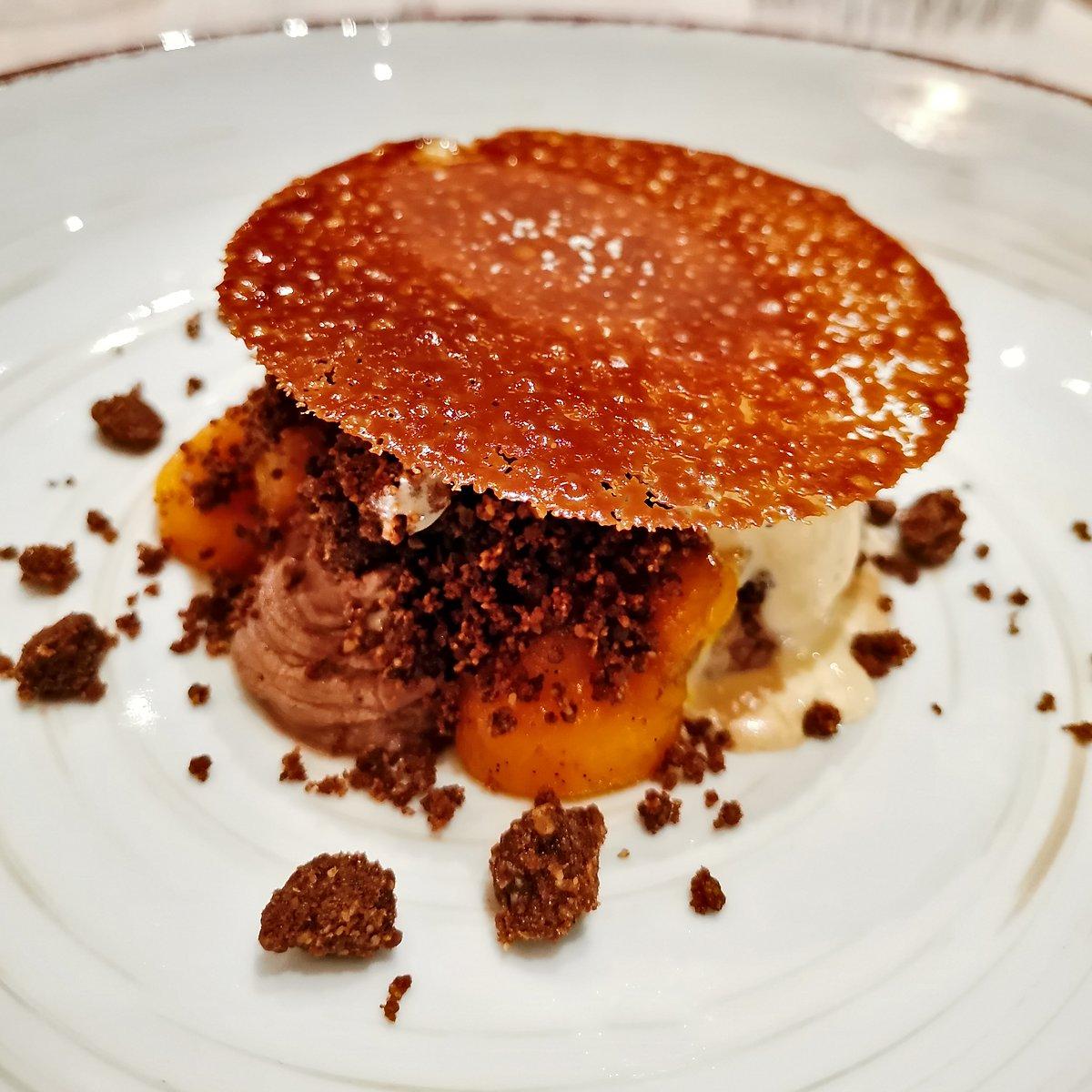 dessert courge chocolat restaurant L'Odas