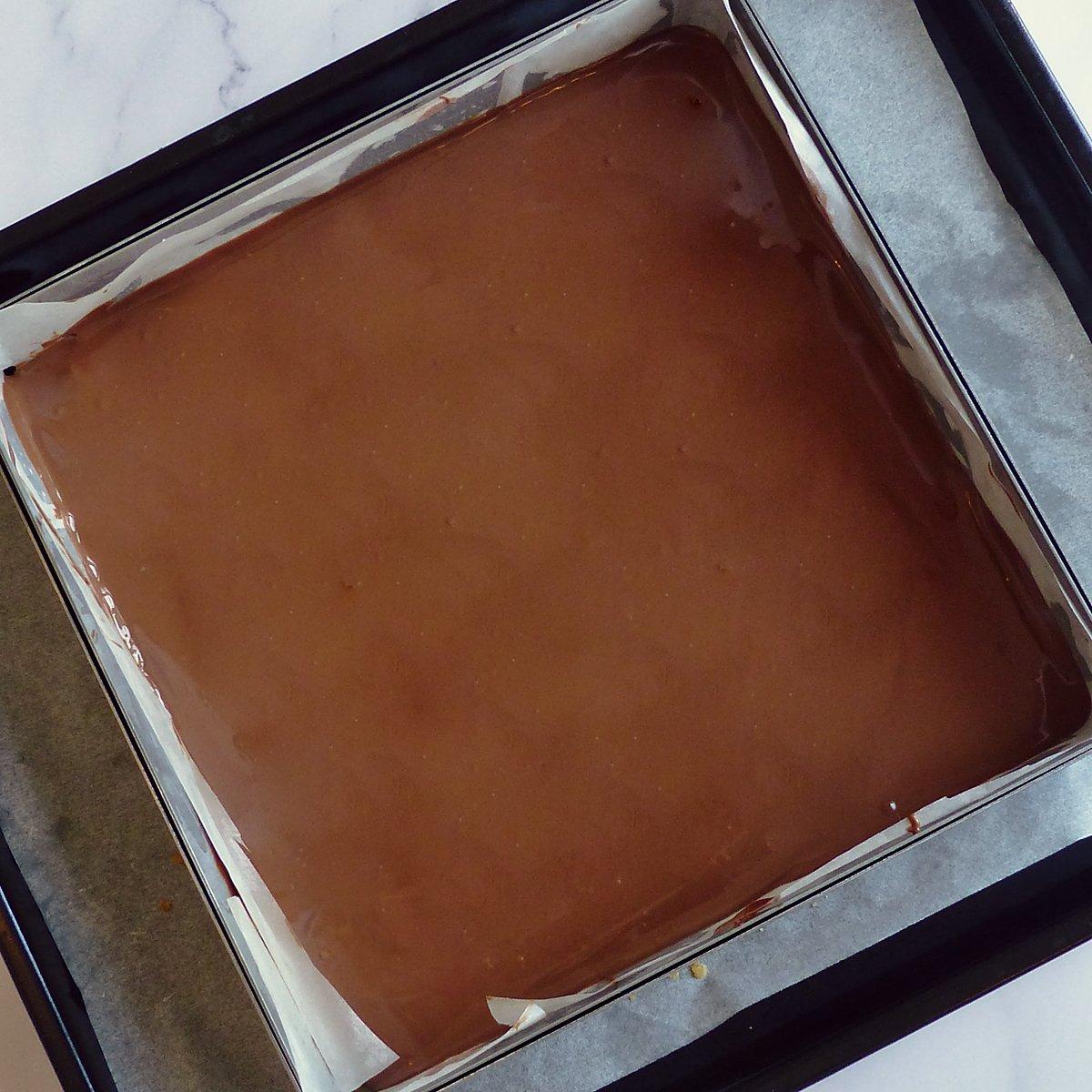 Chocolat sur caramel fondant Shortbread Millionnaire