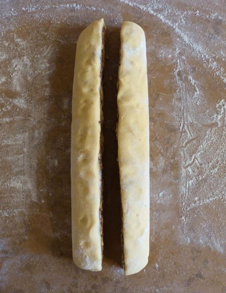 boudin babka coupé en deux
