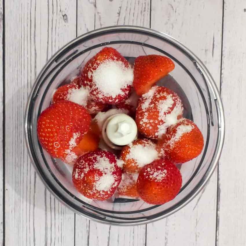 Coulis de fraises Verrine fraîcheur Olivier Bajard
