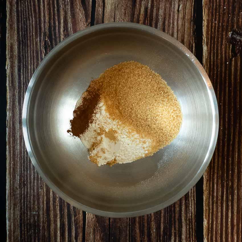 Préparation crumble pour Crumble de patates douces