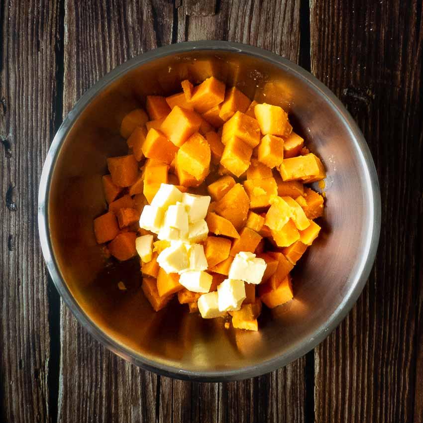Préparation pour purée pour Crumble de patates douces