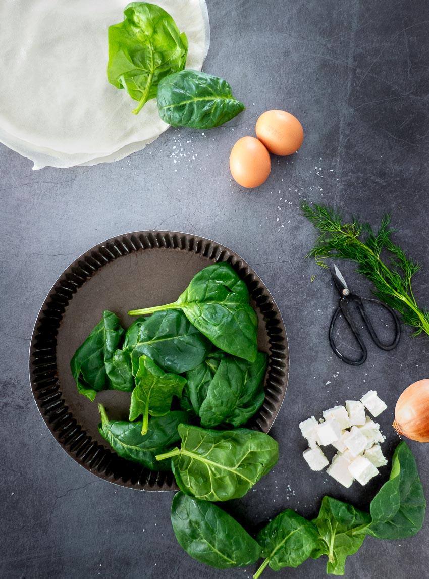 Ingrédients Feuilleté aux épinards et à la feta