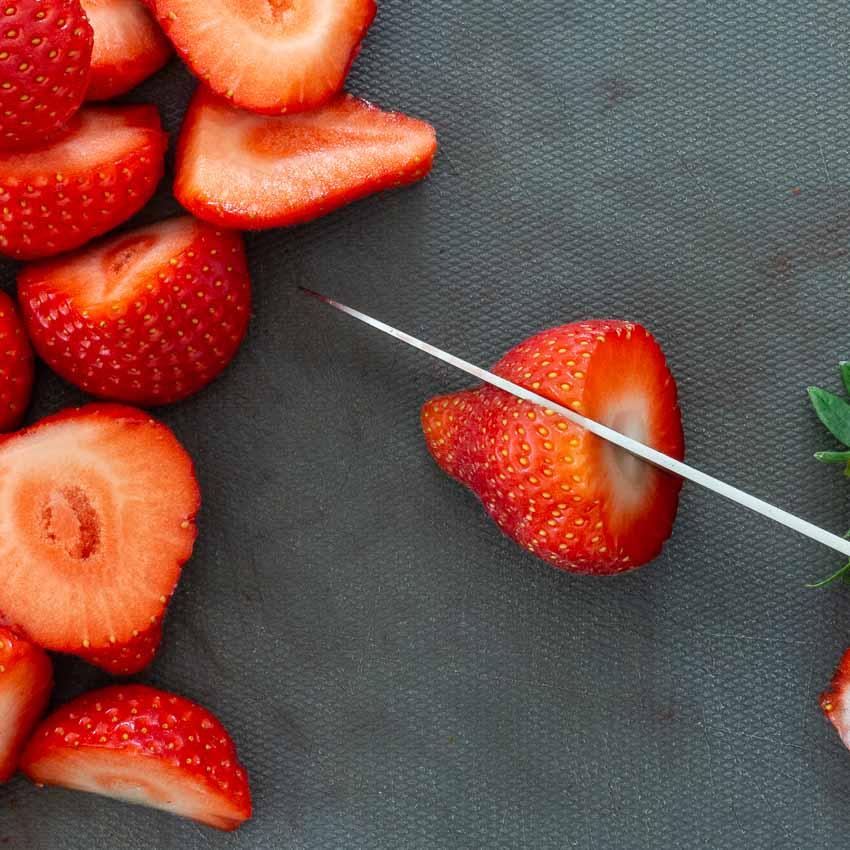 Fraises Tarte aux fraises croustillantes de Nina Metayer