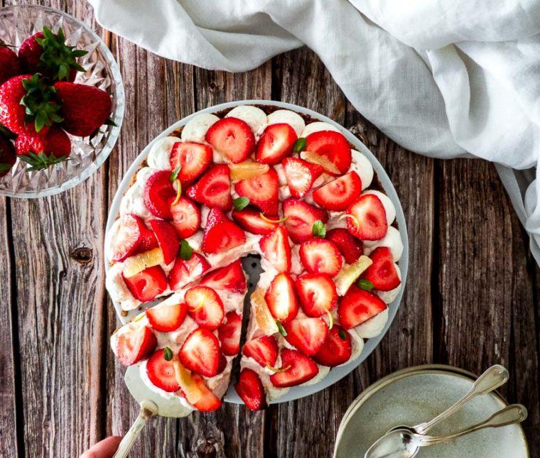 Tarte aux fraises croustillante de Nina Métayer